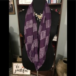 Purple Infinity Scarf with Sparkles